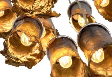 Необычные светильники из сушеных водорослей